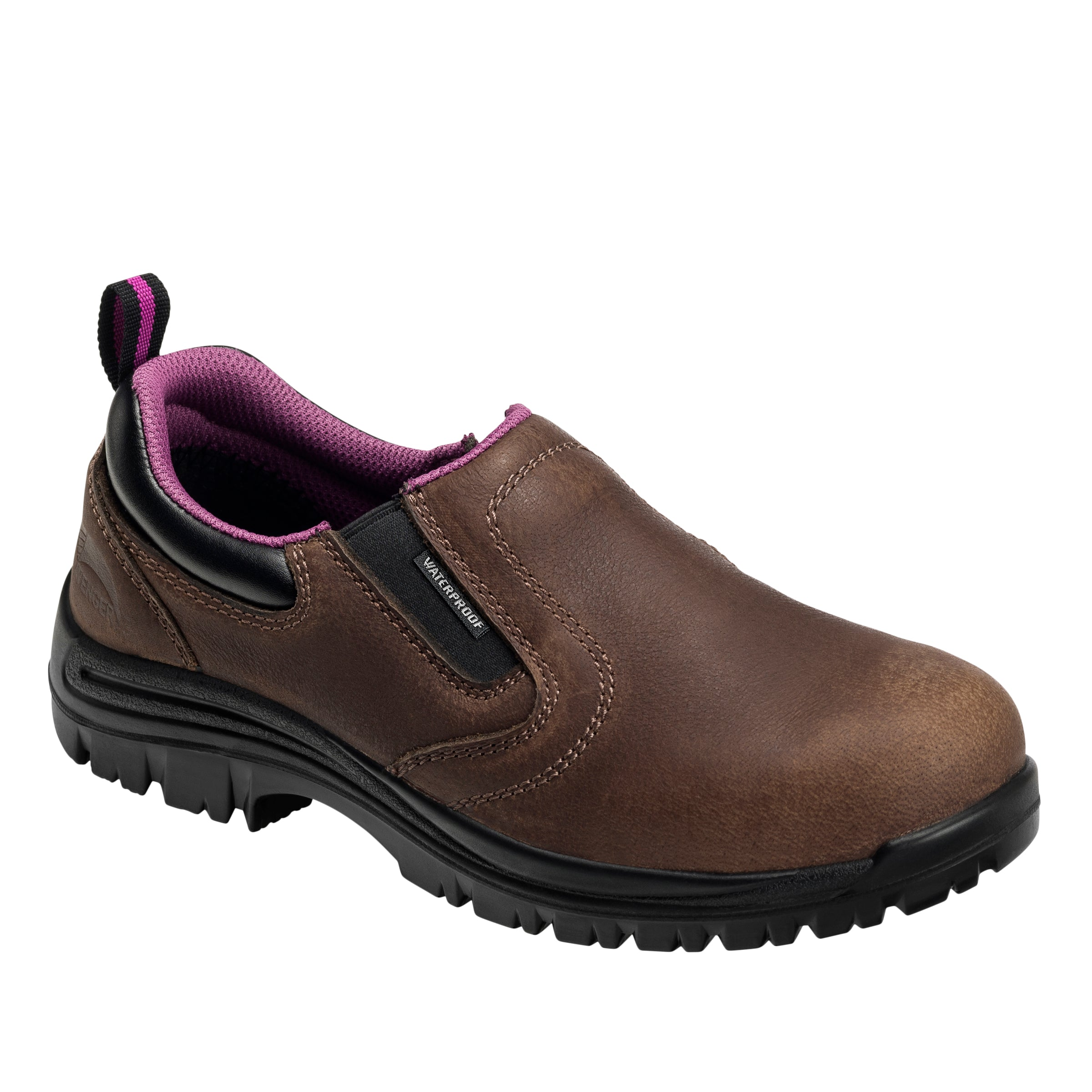 'Avenger' Women's EH WP Comp Toe Slip On - Full Grain Brown
