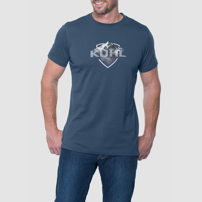 Born In The Mountains Short Sleeve Shirt - Pirate Blue