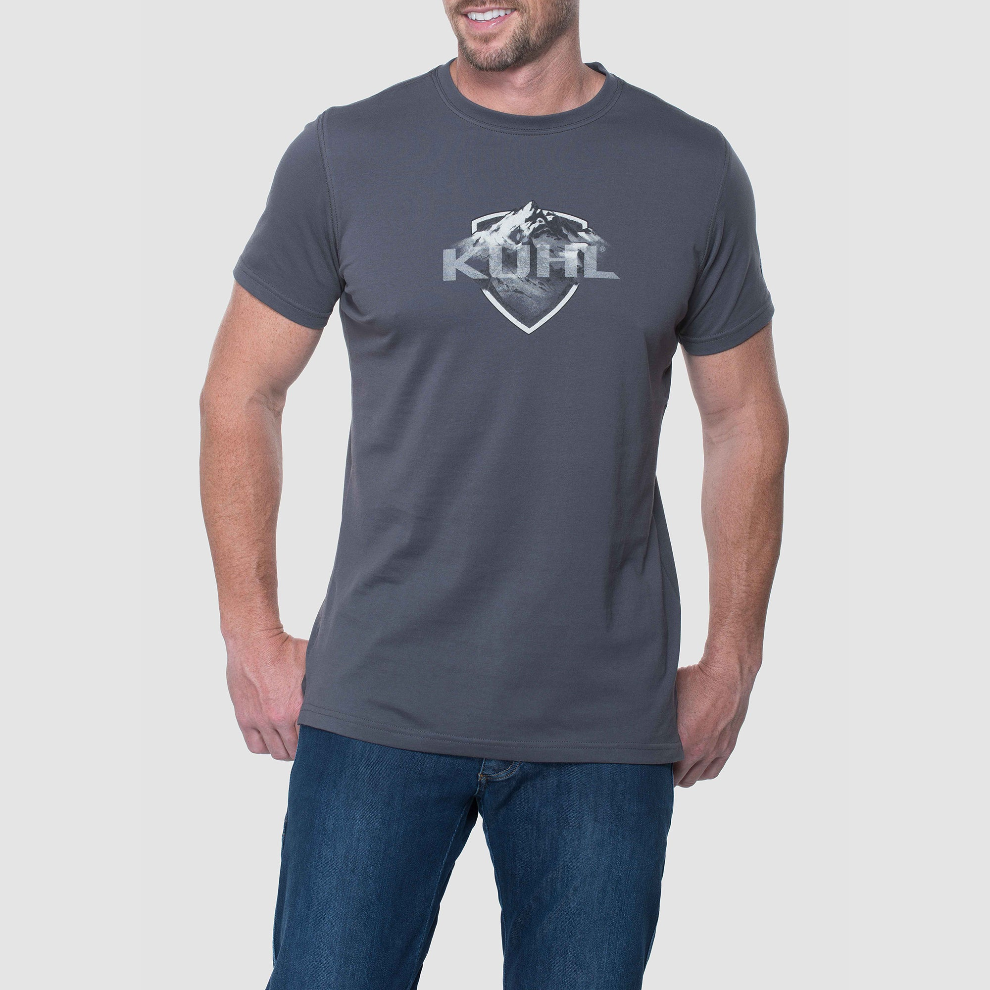 Born In The Mountains Short Sleeve Shirts - Carbon Grey