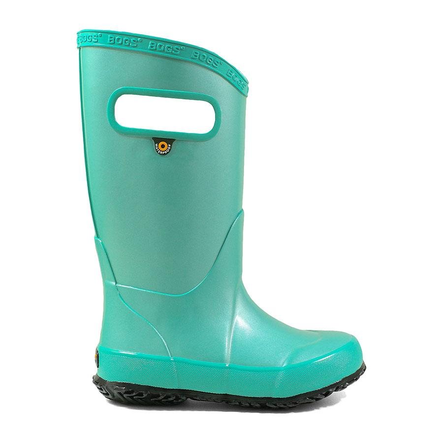 'Bogs' Kids' Rainboot Metallic Plush - Turquoise