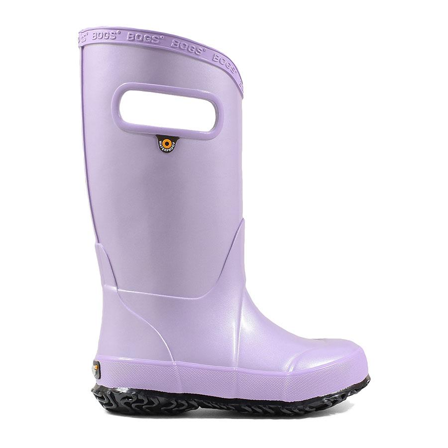 'Bogs' Kids' Rainboot Metallic Plush - Lavender