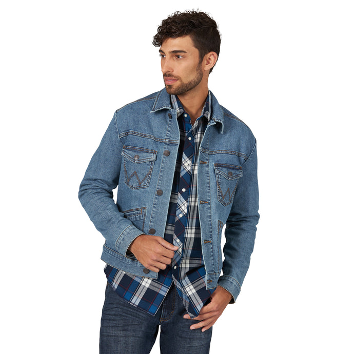'Wrangler' Men's Retro Unlined Jacket - Denim