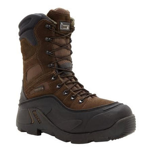 BlizzardStalker Steel Toe Waterproof 1200 Gram Insulated Boot - Brown / Black