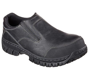 'Skechers' Men's Hartan EH Steel Toe Slip On - Black