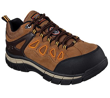 'Skechers' Men's Dunmor EH Comp Toe - Brown / Orange / Black