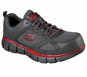 Telfin Composite Toe Sneaker - Charcoal Gray / Red