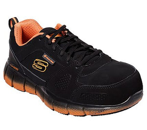 Telfin - Saket ESD Aluminum Toe Shoe - Black / Orange