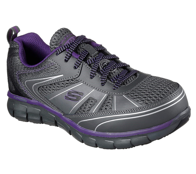 Synergy - Algonac Alloy Toe - Charcoal Gray / Purple