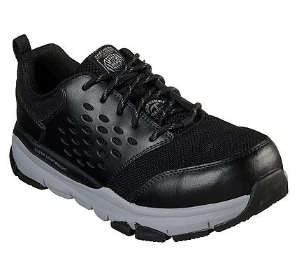 'Skechers' - Men's Soven EH Alloy Safety Toe - Black / Gray