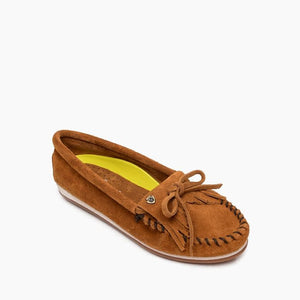 'Minnetonka' Women's Kilty Plus Moccasin - Brown