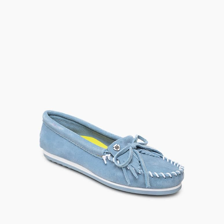 'Minnetonka' Women's Kilty Plus Moccasin - Hydrangea Blue