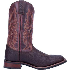 "'Laredo' Men's 12"" Durant Western Square Toe - Dark Brown / Burgundy"