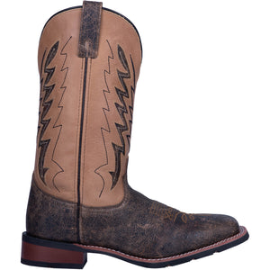 "'Laredo' Men's 12"" Dalton Western Square Toe - Brown / Tan"