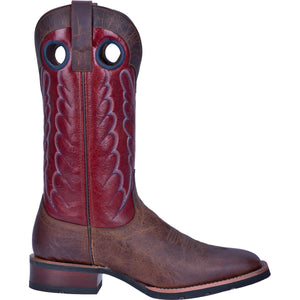 "'Laredo' Men's 13"" Pike Western Square Toe - Brown / Red"