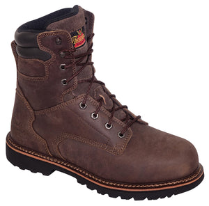 "V-Series 8"" Steel Toe EH Slip Resistant - Dark Brown"