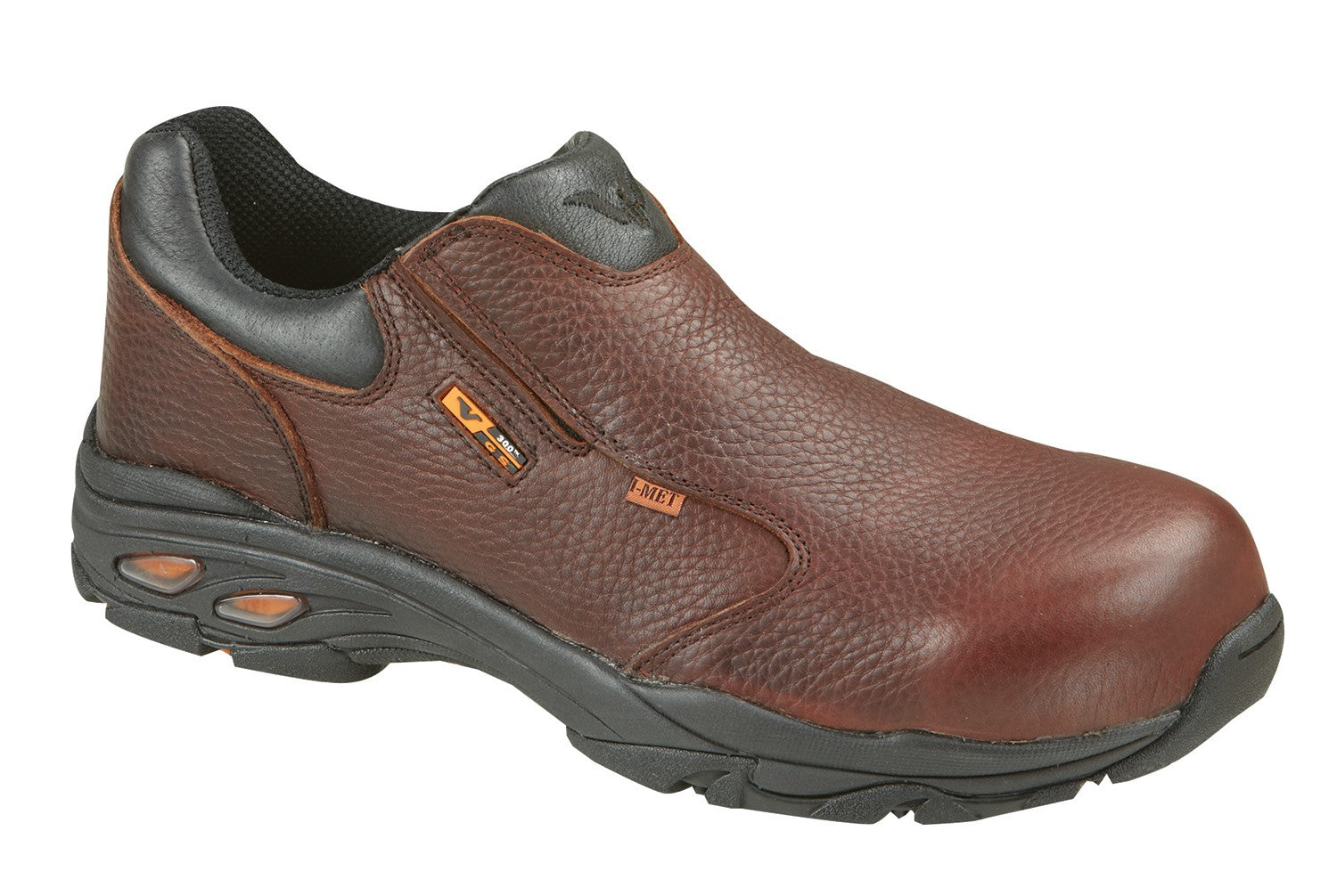'Thorogood' Men's Slip-On Internal Metguard Shoe - Brown