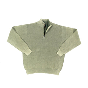 'F/X Fusion' Men's Baby Thermal 1/4 Zip Pullover - Sage