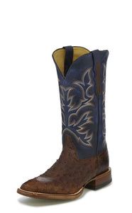 Hillel Full Quill Ostrich - Antique Saddle Ostrich / Midnight Navy