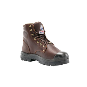 "'Steel Blue' Men's 6"" Argyle Int Met Guard EH Steel Toe - Brown / Oak"