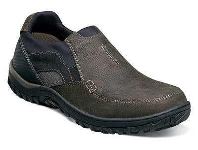 'Nunn Bush' 84827 013 - Quest Moc Toe Slip On - Charcoal