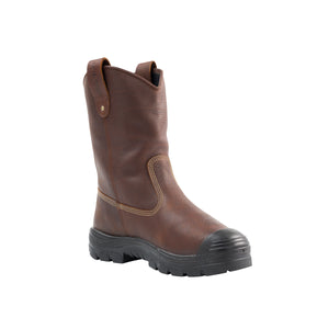 "'Steel Blue' Men's 10"" Heeler Int. MetGuard EH WP Steel Toe - Oak"
