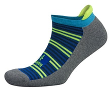 'Balega' Hidden Comfort - Charcoal / Neon Lime
