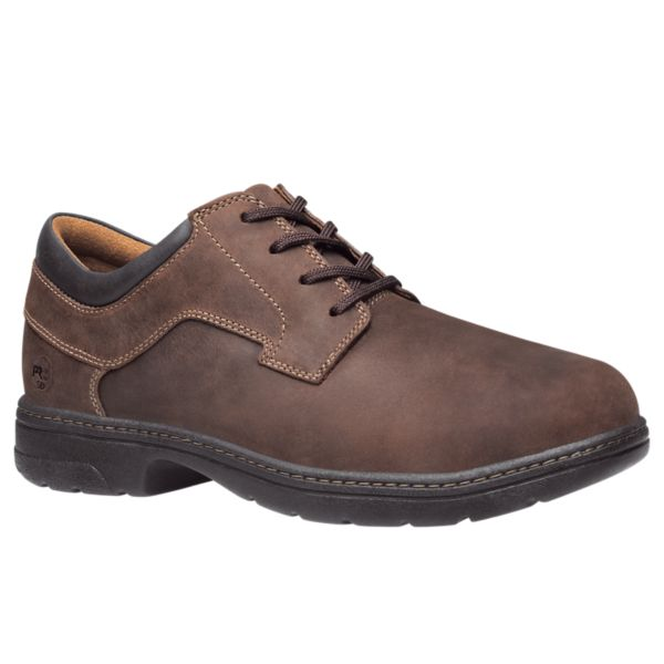 'Timberland Pro' Men's Branston Oxford ESD Alloy Toe - Brown Full-Grain