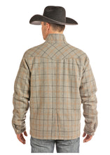 'Powder River' Plaid Zip & Snap Front Coat - Heather Plaid