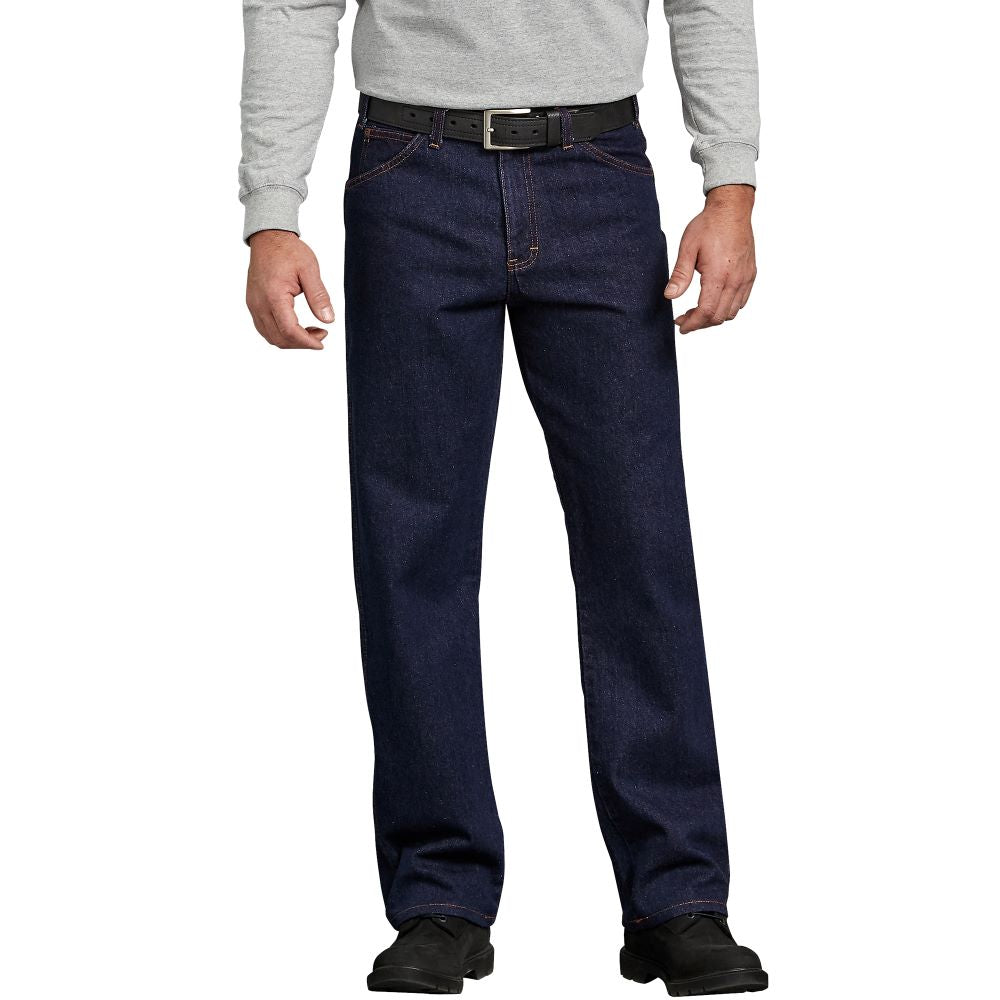 'Dickies' Regular Straight Fit 5 Pocket Denim - Stonewashed Indigo Blue