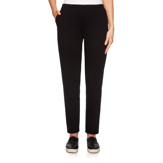 'Ruby Rd.' French Terry Pant - Black