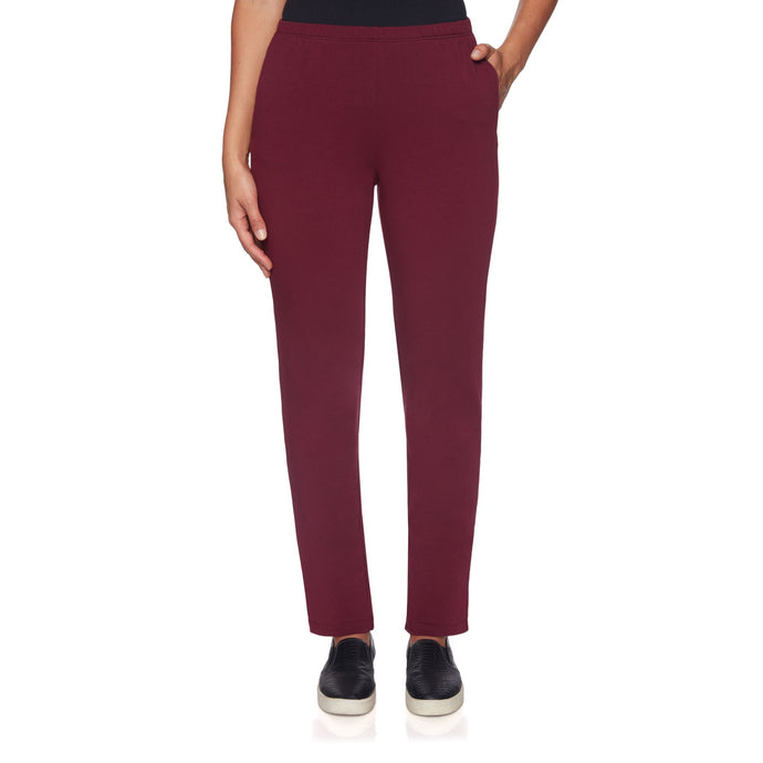 'Ruby Rd.' French Terry Pant - Wine