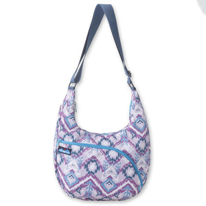 'KAVU' Singapore Satchel - Purple Ikat