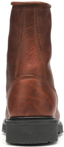 "9712 - Double H Zachary 8"" Domestic Work Lacer Boot - Whiskey Brown"