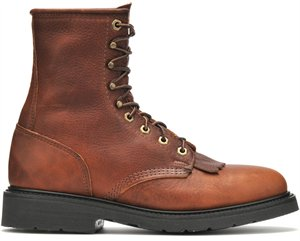 "'Double H' Zachary 8"" Domestic Work Lacer Boot - Whiskey Brown"