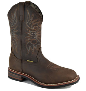 "991 10"" Square Toe Waterproof Composite Toe Boot - Brown"