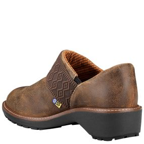 'Timberland Pro' Women's Riveter ESD Alloy Toe Slip-On - Full Grain Brown
