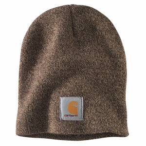 'Carhartt' Men's Acrylic Knit Beanie - Dark Brown / Sandstone