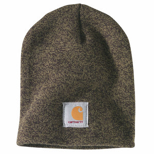 'Carhartt' Men's Acrylic Knit Beanie - Military Olive / Black Marl