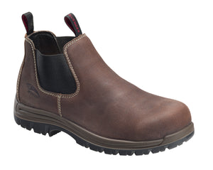 "'Avenger' Men's 4"" Foreman Romeo EH SR Comp Toe Pull On - Brown"