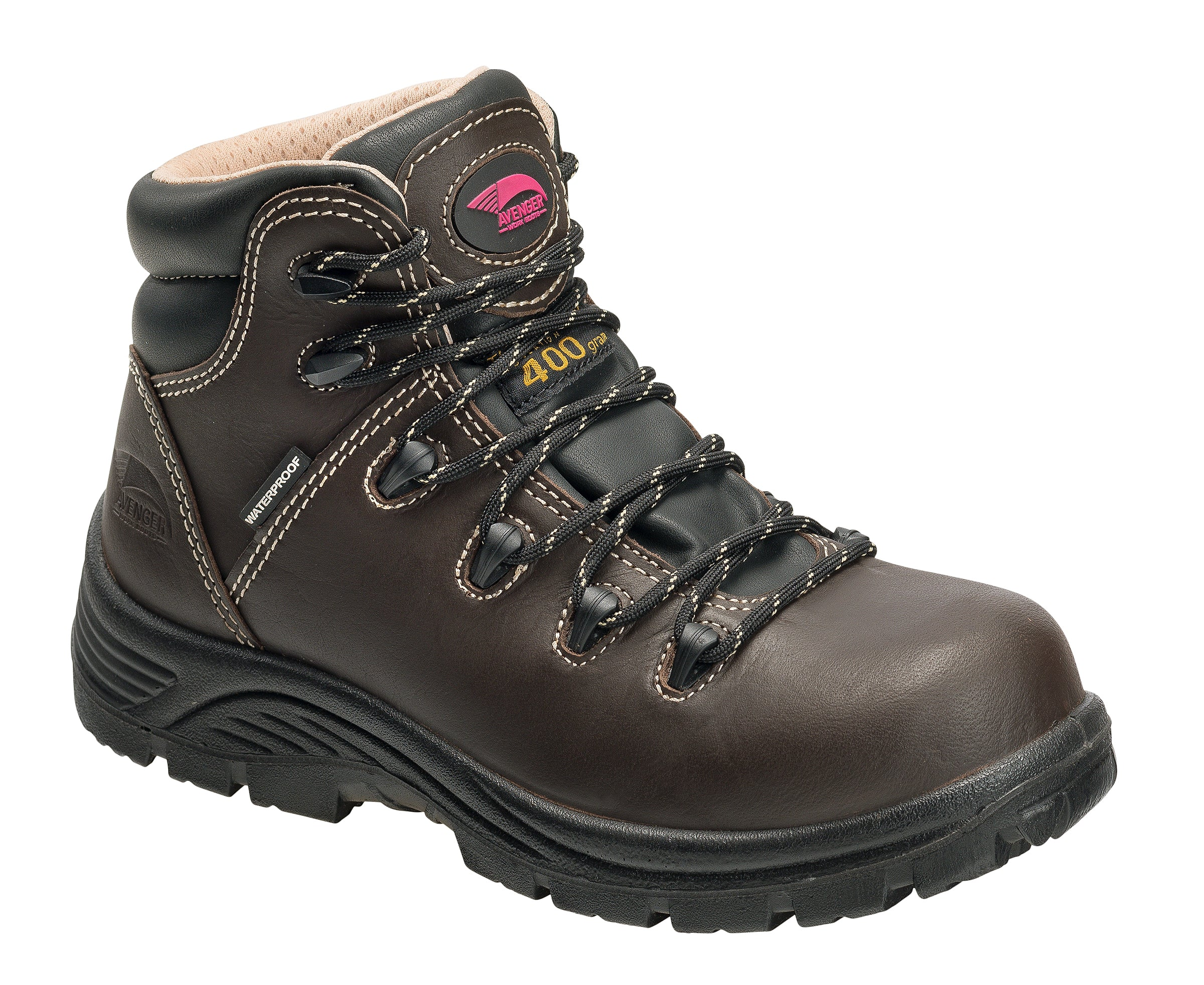 'Avenger' Women's Farmer 400GR WP Comp Toe - Brown / Black
