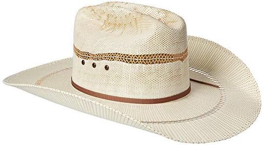 'Ariat' Western Bangora Straw Hat - White