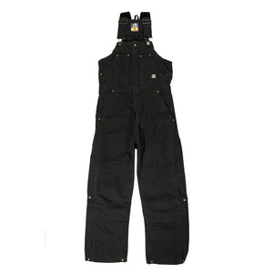 'Berne' Men's Highland Original Washed Insulated Bib Overall - Black