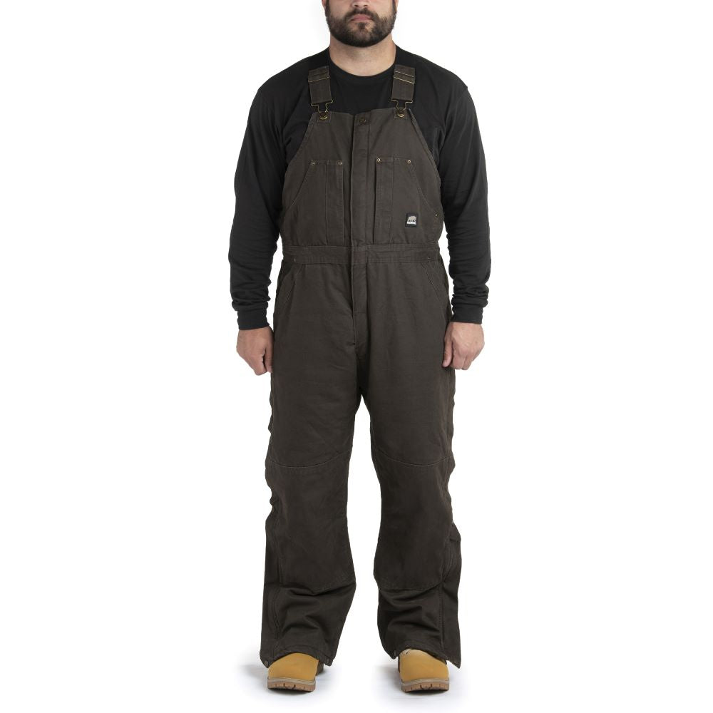 'Berne' Men's Highland Original Washed Insulated Bib Overall - Bark
