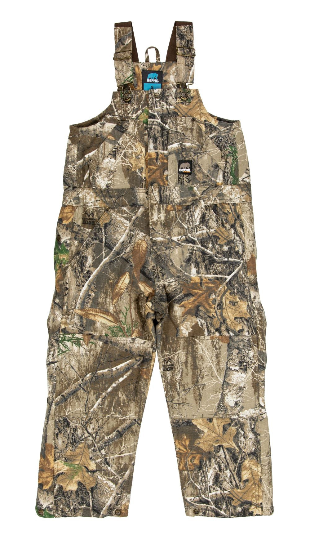 'Berne' Youth Insulated Bib Overall - Realtree Edge