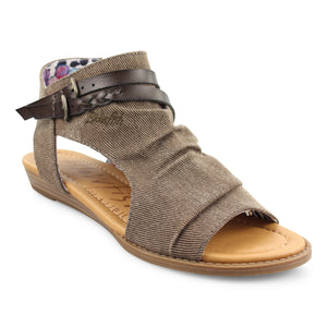 'Blowfish' Malibu Blumoon BF-7295 302 - Sandals - Mud Smokey Twill / Tobacco