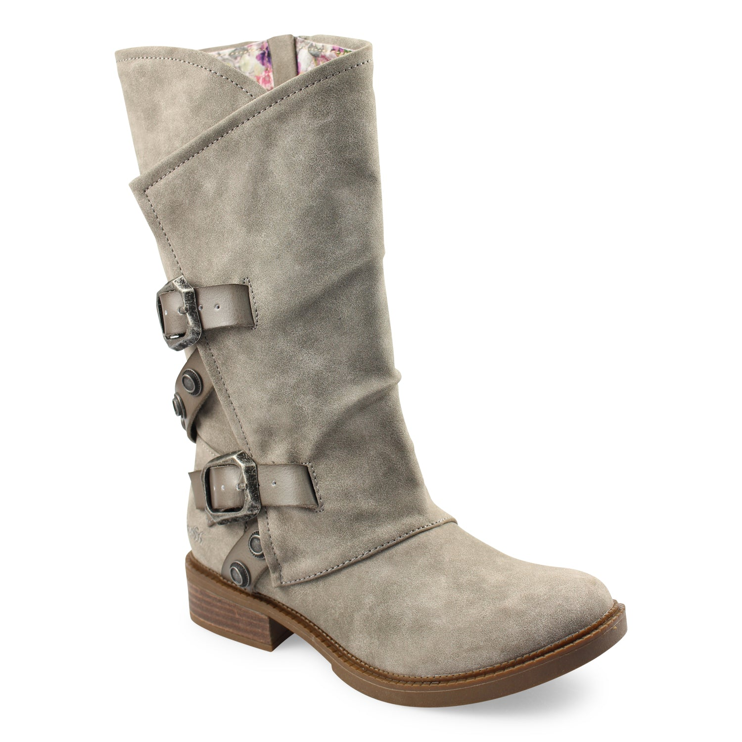 'Blowfish Malibu' 8218 219 - Women's Vacation Mid-calf Boot - Smoke