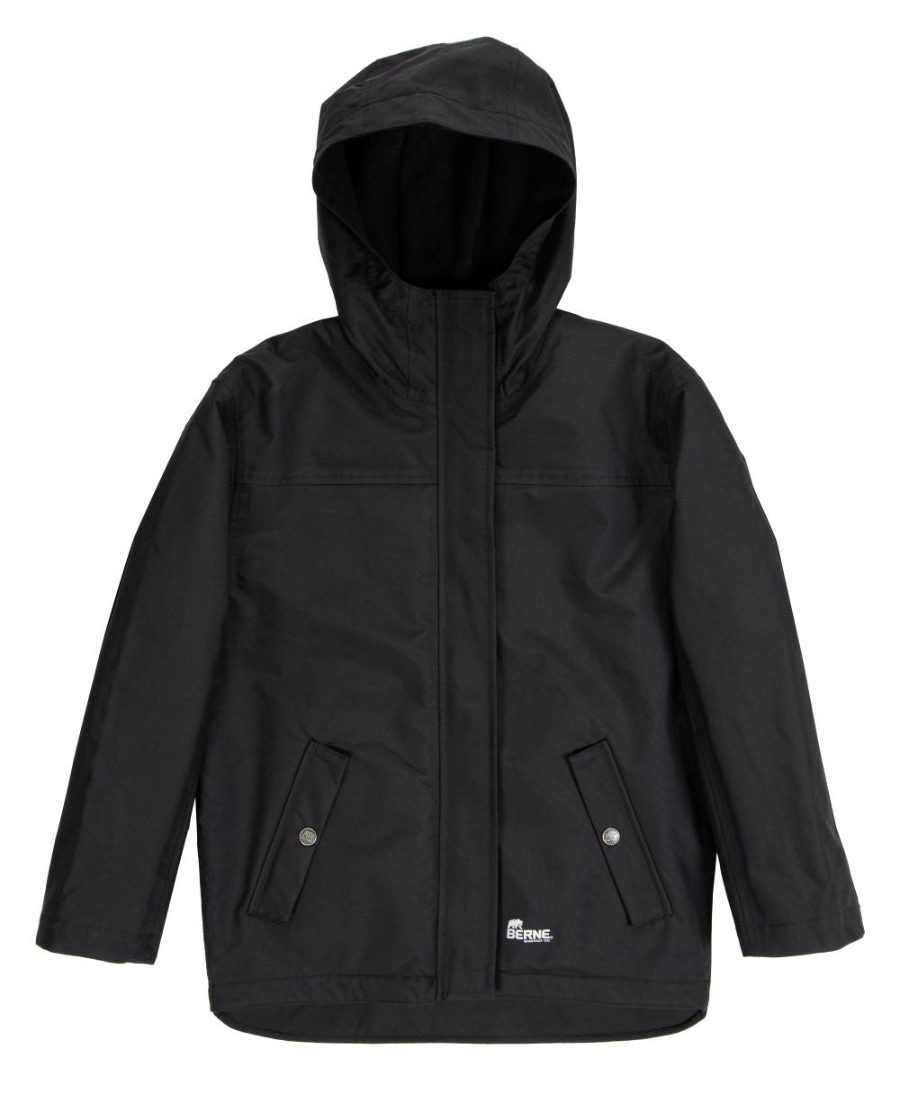 'Berne' Youth Splash Insulated WP Jacket - Black