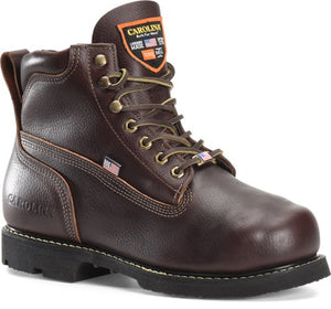 "'Carolina' Men's 6"" INT 2.O EH MET Broad Toe Winged Boot - Brown"