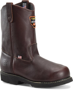"'Carolina' Men's 10"" Wellington Broad Toe Ranch  EH MET - Brown"