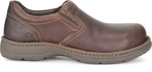 'Carolina' Men's BLVD 2.0 Aluminum Toe ESD Slip On - Brown